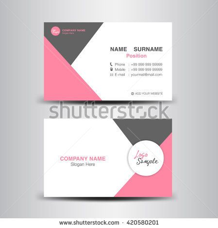 Stock Vector Creative And Clean Business Card Template
