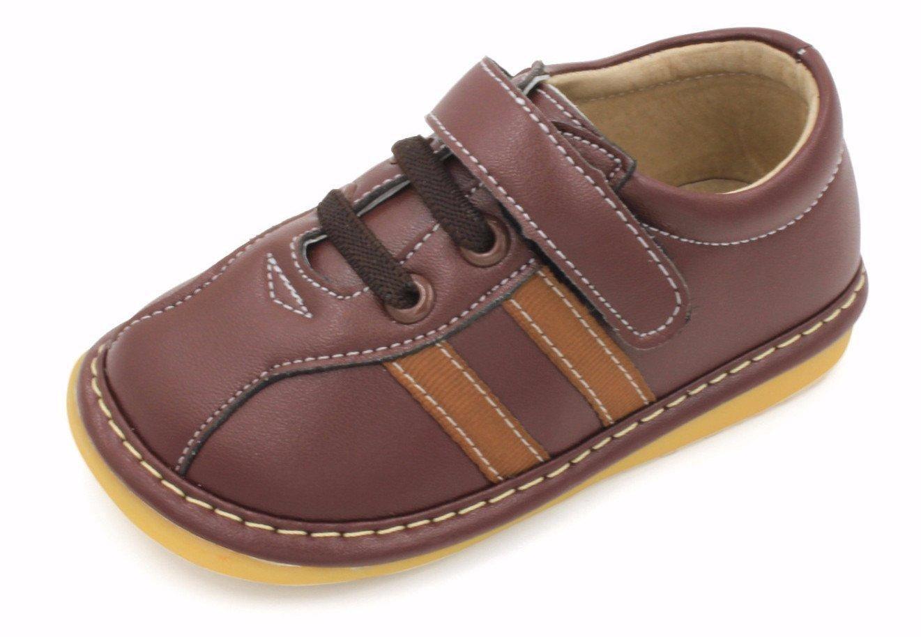 #Little Mae's Boutique - #Little Mae's Boutique Squeaky Shoes / Brown Boy Sneakers - AdoreWe.com