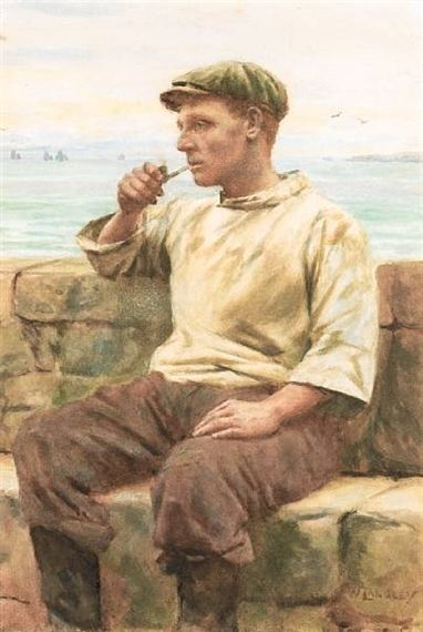A quiet smoke ~ Walter Langley
