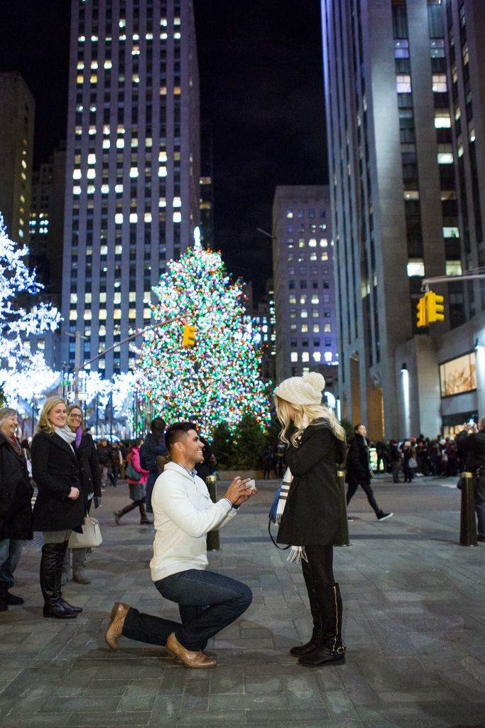 Rockefeller center Christmas tree proposal Christmas