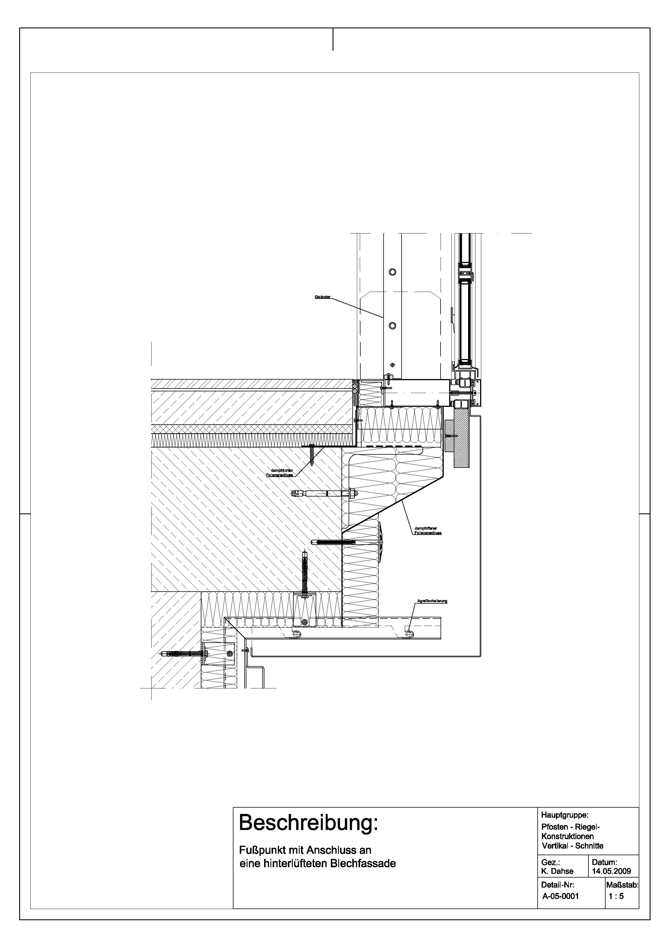 a 05 0001 fu punkt mit anschluss an hinterl ftete blechfassade details pinterest. Black Bedroom Furniture Sets. Home Design Ideas