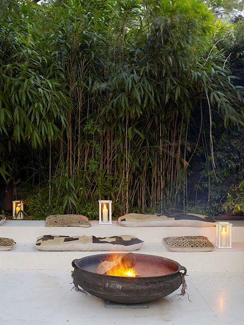 für die Strandecke hinten im Garten Garten Pinterest - feuerstelle fur den garten