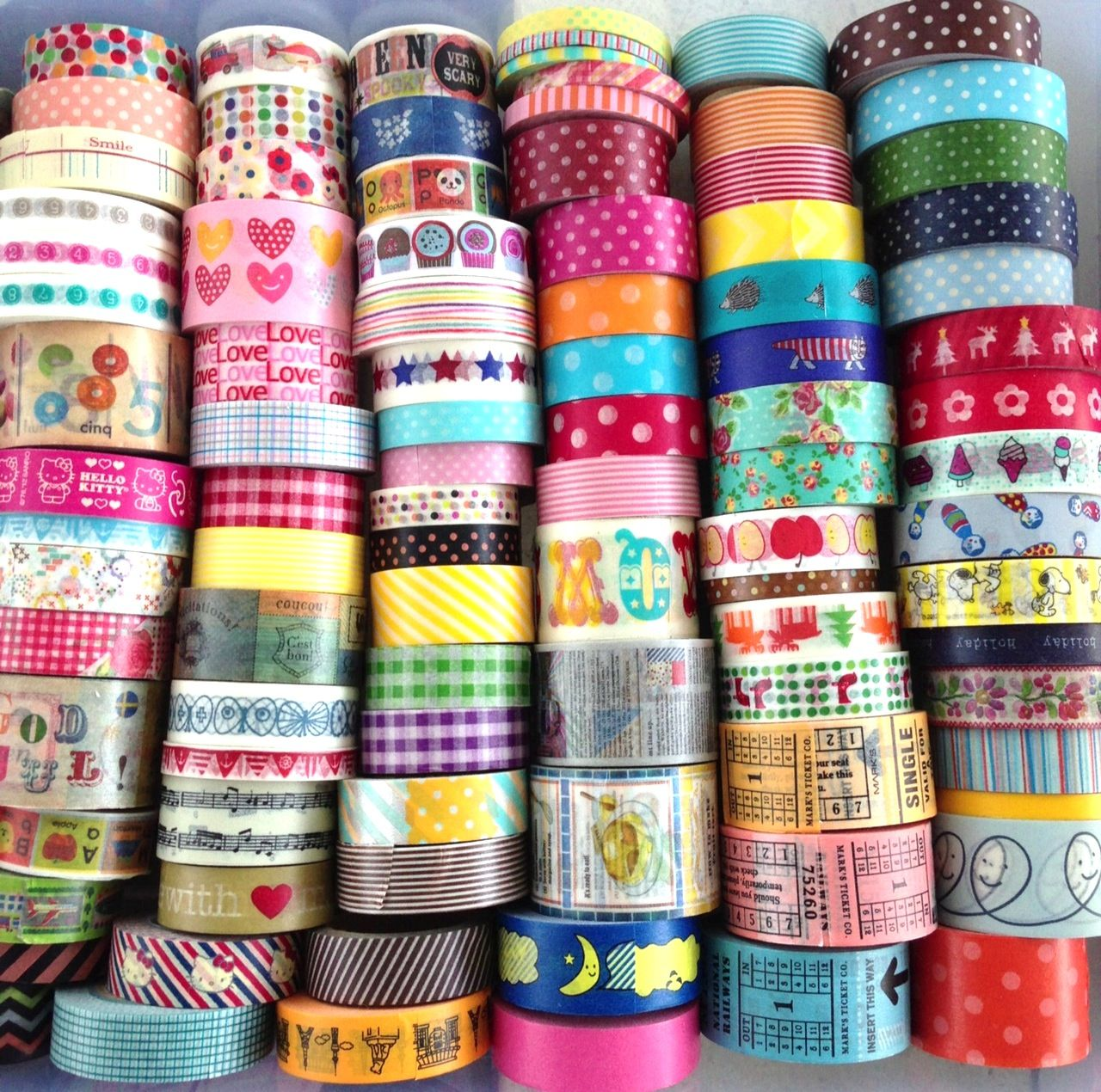 colourful and cute masking tape