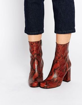 Buy Women Shoes / Kg By Kurt Geiger Snape Snake Print Leather Mid Calf Boots