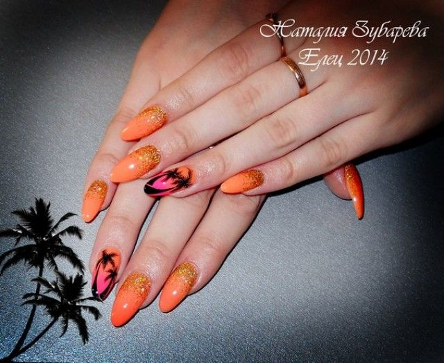 natalia aus eliz fingernagel motive sommer orange mit pink nageldesign bilder by world. Black Bedroom Furniture Sets. Home Design Ideas