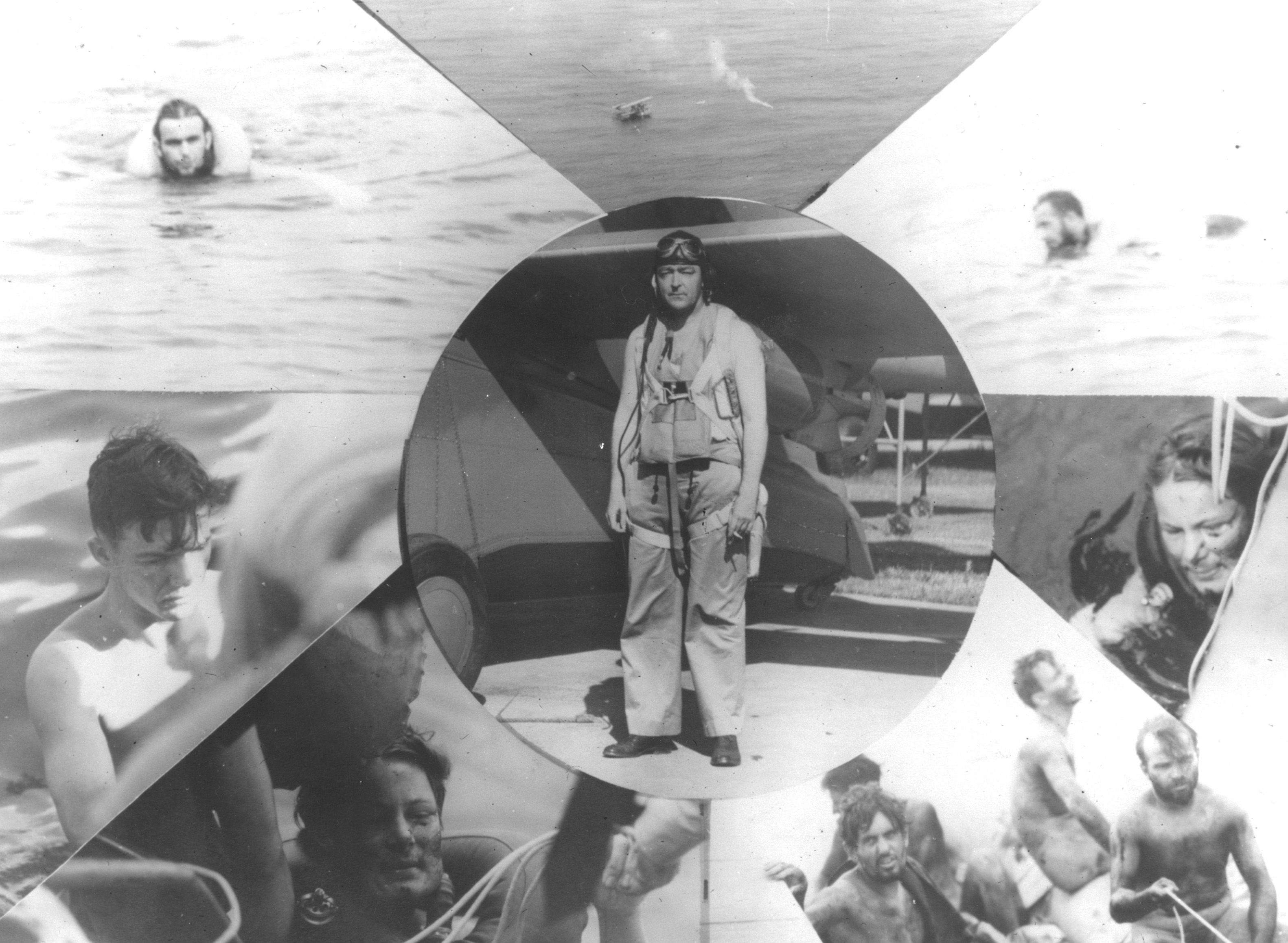 A Collage Of P Os Showing Cdr Richard Burke And His Rescue Of The Surviving Crewmen Of