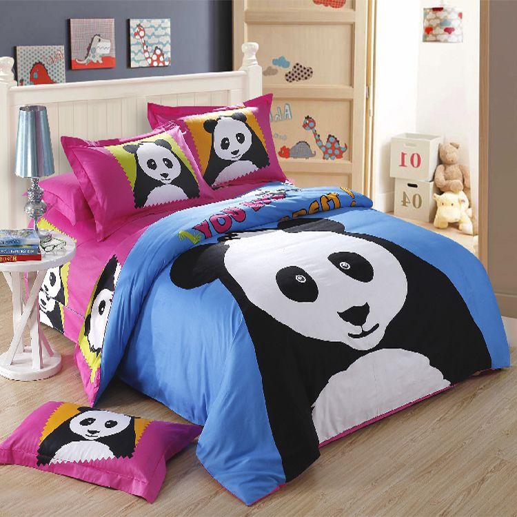 Lovely Luminous Panda Animal Bedding Four Sets