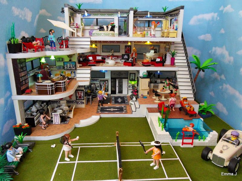 playmobil modern mansion Google Search Maison moderne