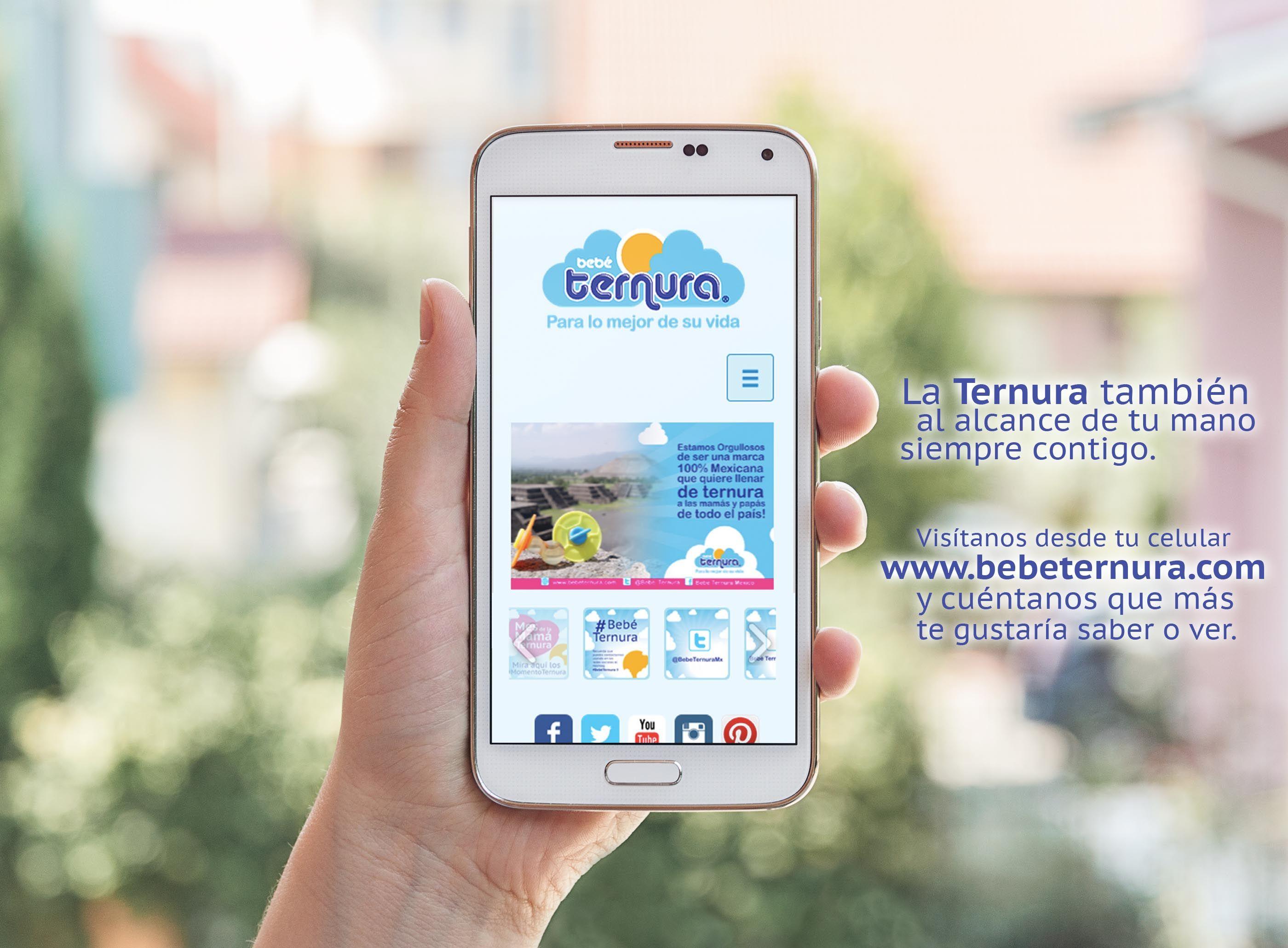 La Ternura al alcance de tu mano, visítanos desde tu celular en www.bebeternura.com, y coméntanos que más te gustaría saber o ver en nuestra web. :)