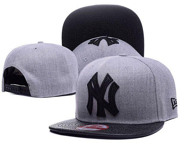 258383efe53 New York Yankees MLB Leather RIP 9FIFTY Snapback Hats Gray Black ...