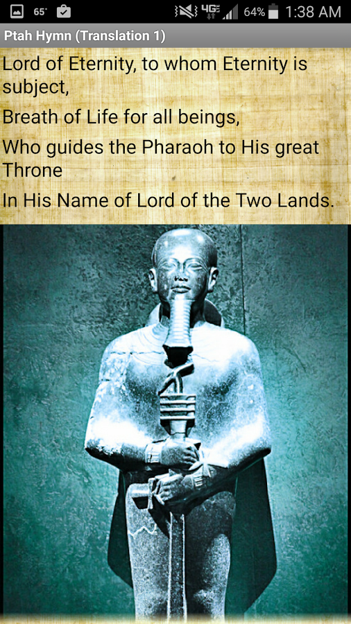 This app contains an ancient Egyptian hymn and prayer