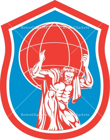 artwork atlas carry carrying earth front globe graphics