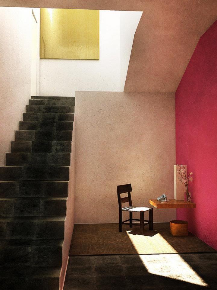 Luis Barragánu0027Casa Estudio De Luis Barragánu0027 Mexico City 1947 1948 · TreppenArchitekturEinfaches  LebenMexikoWandfarbeAussenWandgestaltungLichtlein ...