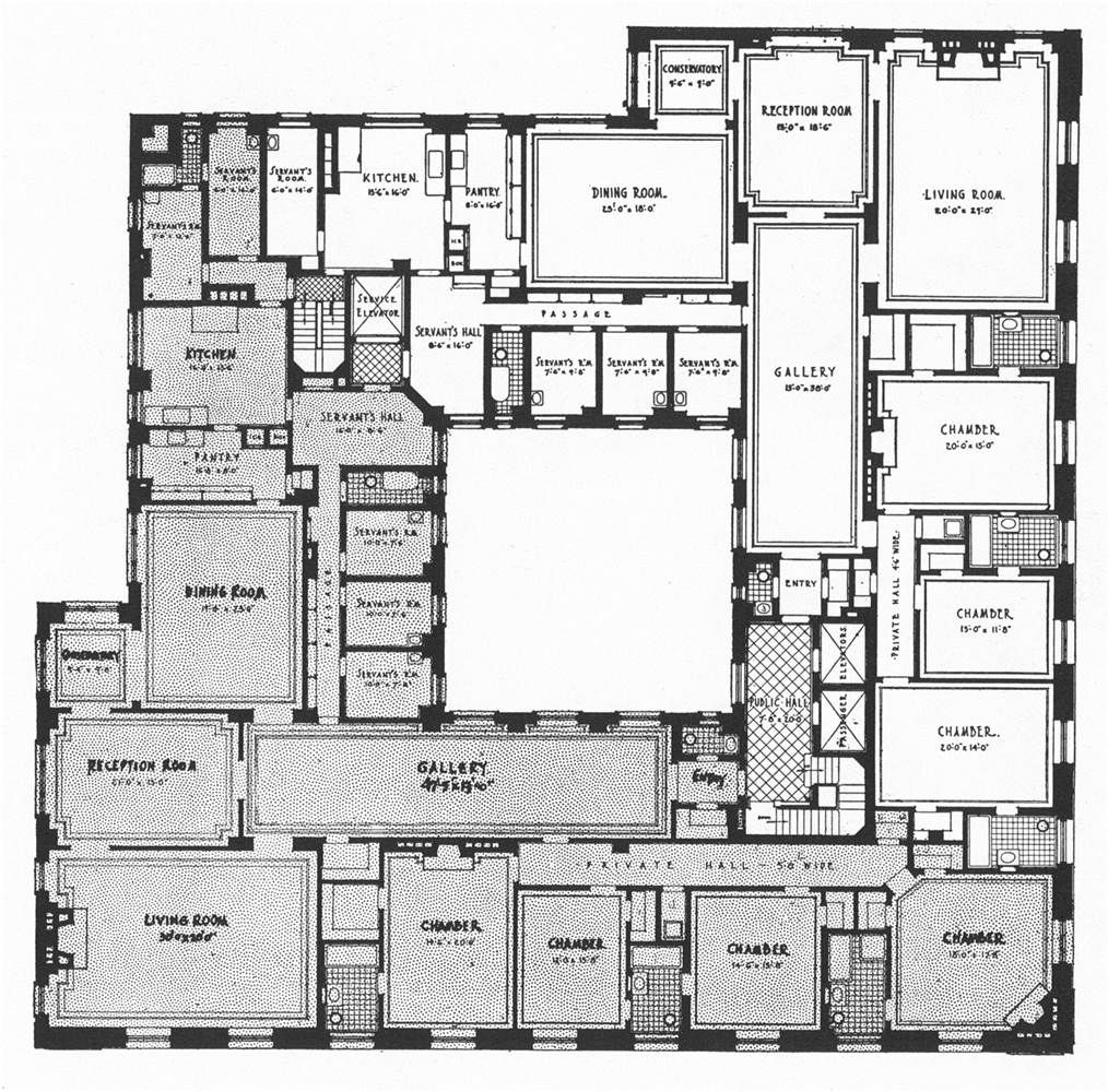Floor Plan Of Huguette Clark S New York Apartment Architectural