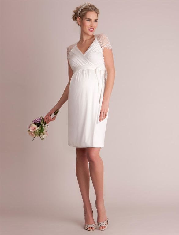 Seraphine Luxe Chelsey Maternity Dress, White | Maternity ...