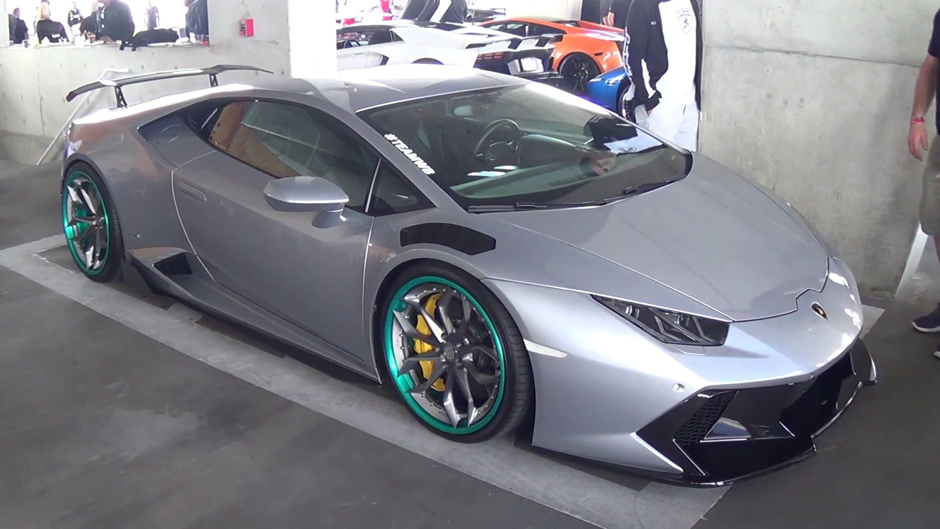Silver Lamborghini Huracan Novara on HRE Wheels at ...