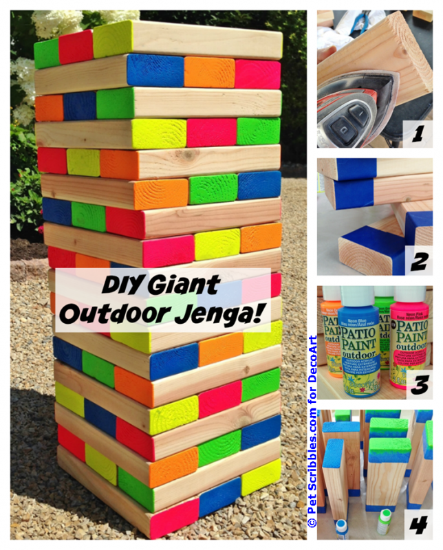 DIY Giant Outdoor Jenga Game - How To Make A Colorful Outdoor Giant Jenga Game DIY Games, Jenga