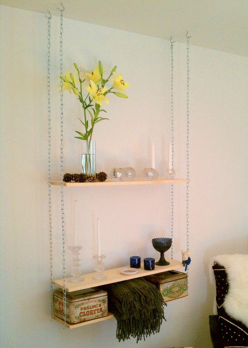 Well Arranged Hanging Shelves From Ceiling Ideas Hanging Shelf