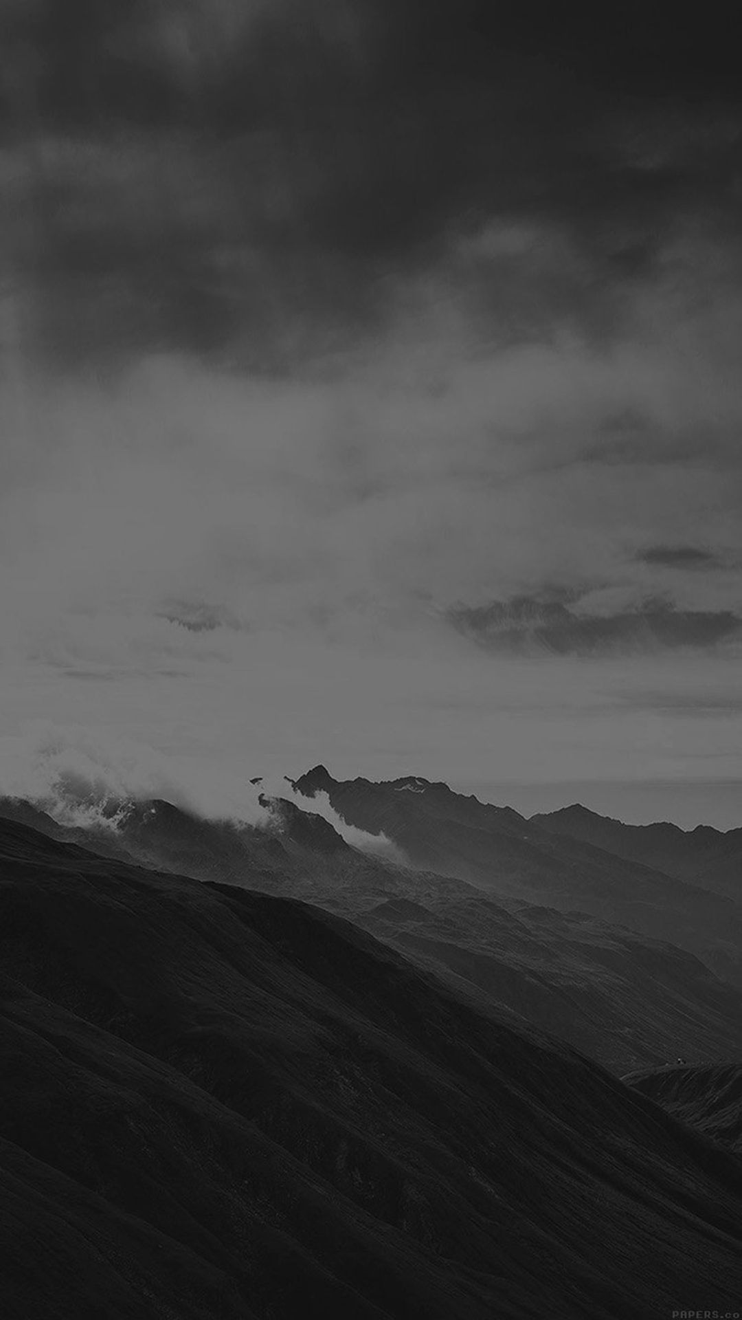 Mountain Art Fog Nature Dark Bw Iphone 6 Plus Wallpaper Black Aesthetic Wallpaper Dark Wallpaper Black Wallpaper