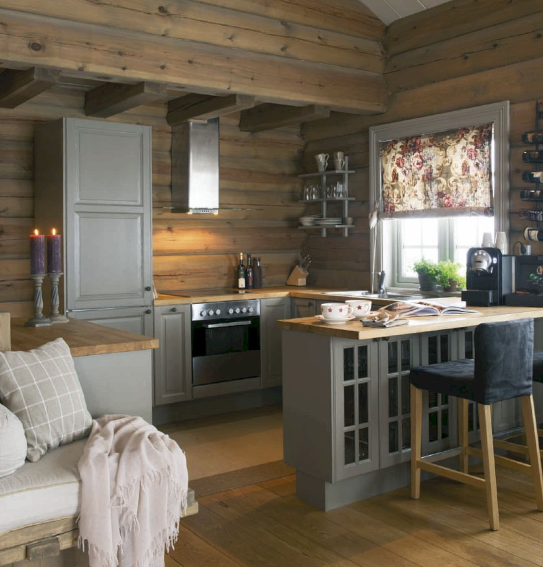 11 Amazing Small House Kitchen Designs Small Cabin Kitchens Log Cabin Kitchens Rustic Cabin Kitchens