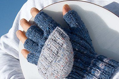 Photo of Blaue Handschuhe stricken familie.de