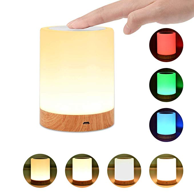 Night Light Unifun Touch Lamp For Bedrooms Living Room Portable