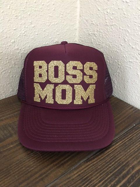 d27943155 Boss Mom Trucker Hat Women's Trucker Hat Mom by sunsetsigndesigns ...
