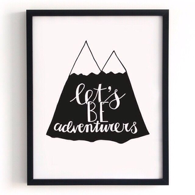 Poster 'Let's be adventurers'