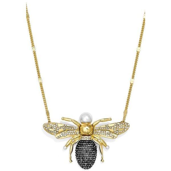 Baublebar x olivia palermo queen bee pendant necklace found on baublebar x olivia palermo queen bee pendant necklace found on polyvore featuring jewelry aloadofball Images