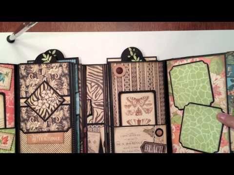 Graphic 45 Tropical Travelogue Gatefold Mini Album - YouTube