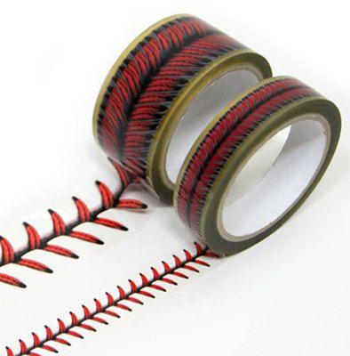 Baseball stitches design tape set.