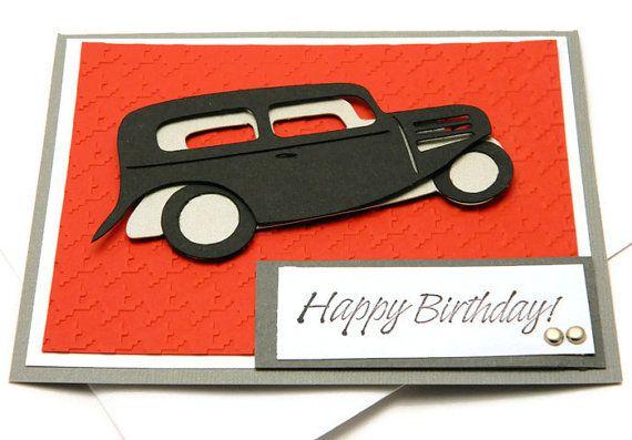 Funny Birthday Card Happy Birthday Card Old Car Dad Etsy Dad Birthday Card Funny Birthday Cards Husband Birthday Card