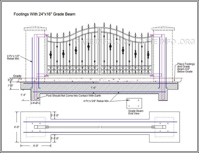 driveway gate grade beam diagram gates & fences in 2019 driveway  driveway gate grade beam diagram