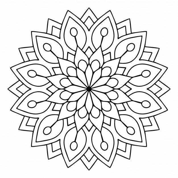 Infantil Y Primaria Mandalas Para Colorear Mandalas Para Colorear Plantilla Para Estarcir Bordado Mandalas