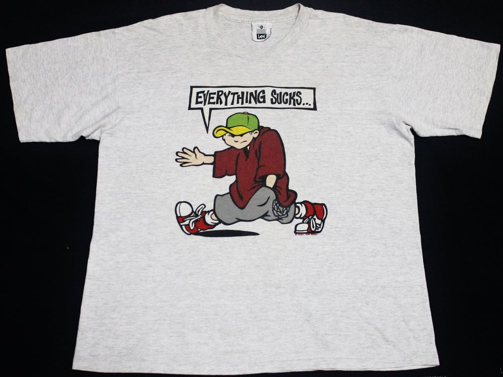 3701211910 VINTAGE 1991 POWELL PERALTA EVERYTHING SUCKS  299.00! Wow....I used to have  this shirt!