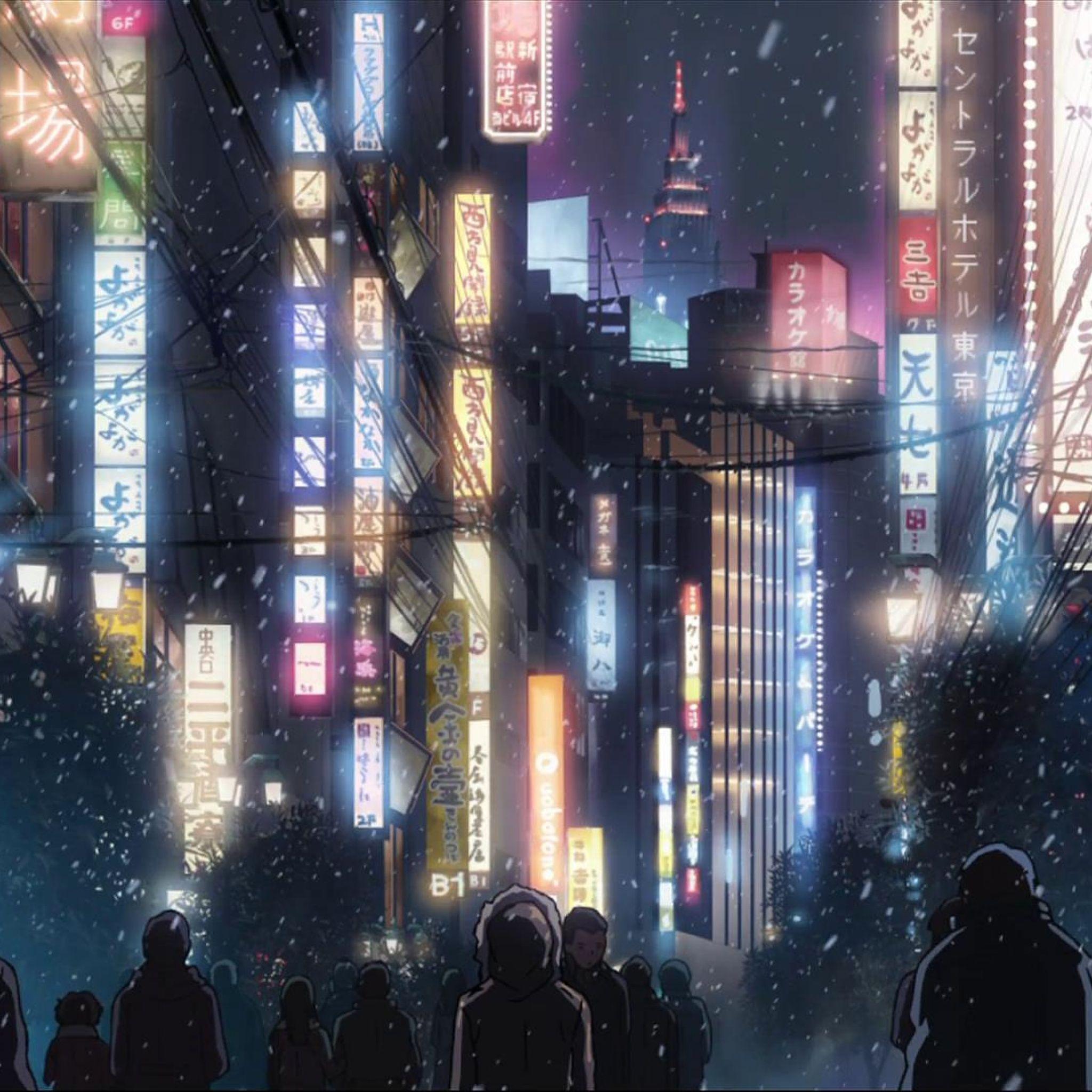 Anime Japan Cityscape Ipad Air Wallpaper Cityscape Wallpaper Anime City Anime Scenery