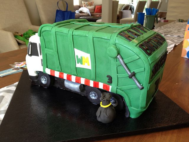 Garbage Truck Cake Tutorial Birthday Cakes And