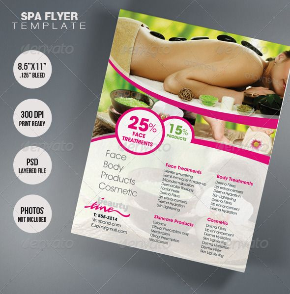 spa brochure template - spa flyer template flyer template business design and spa