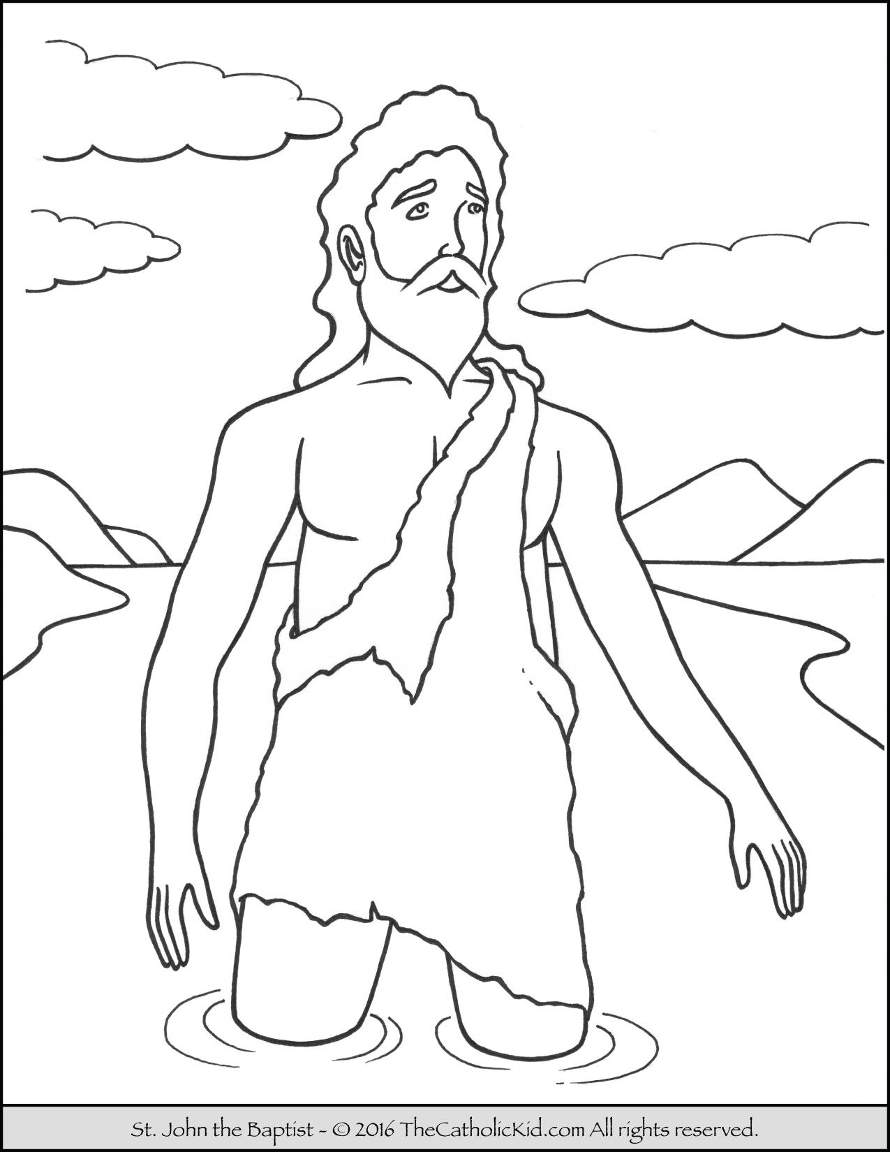 Saint John The Baptist Coloring Pages The Catholic Kid John The Baptist Coloring Pages Mermaid Coloring Pages