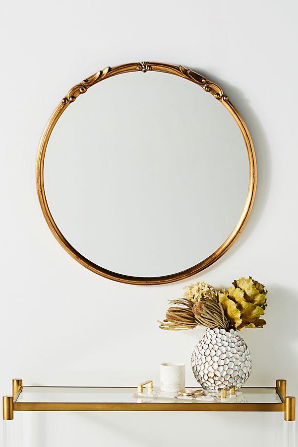 Bella Mirror Round Gold Mirror Mirror Vintage Mirrors