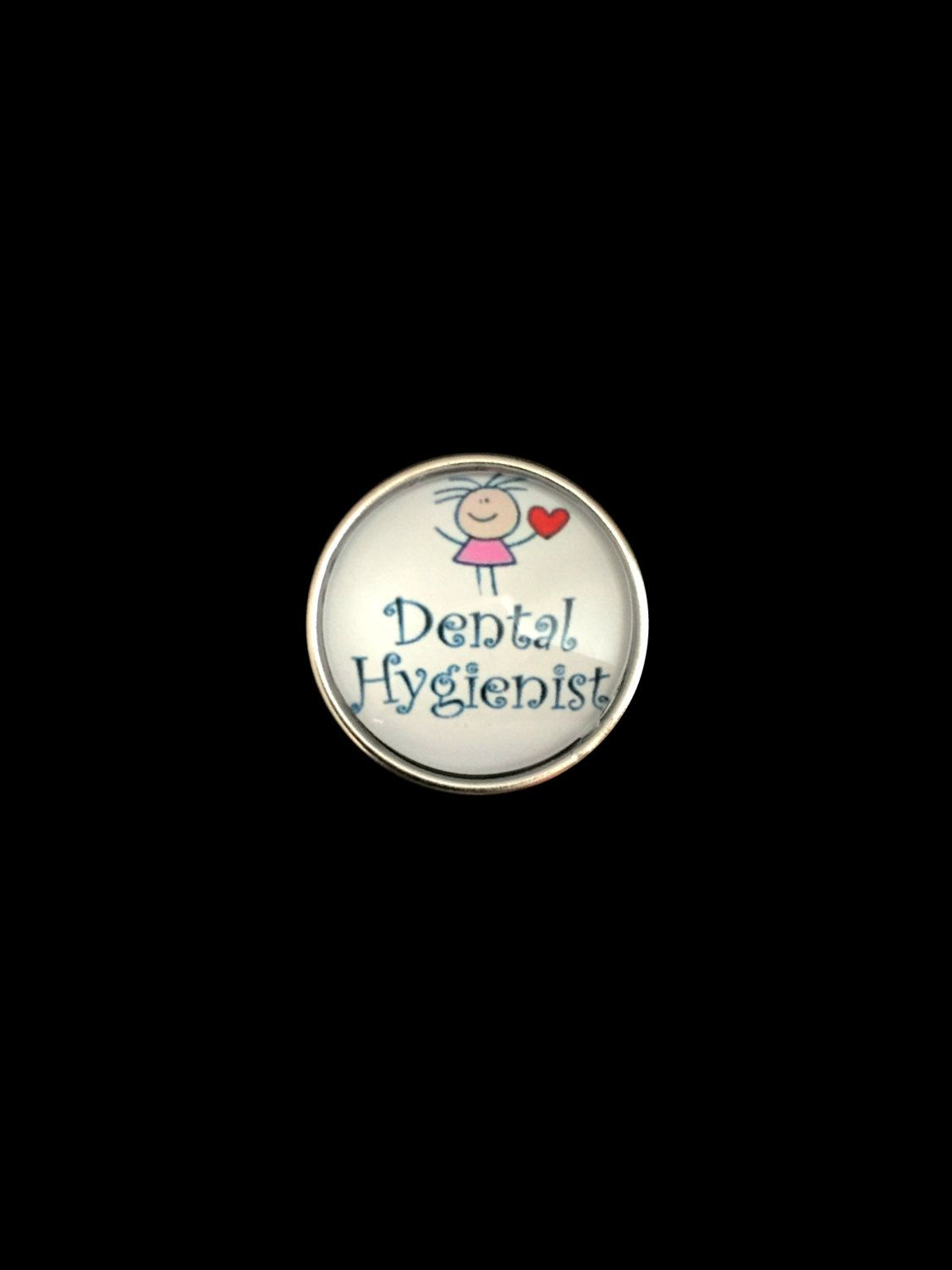 Dental Hygienist Snap 20mm for Ginger Snap Jewelry by SimpleEleganceCole on Etsy