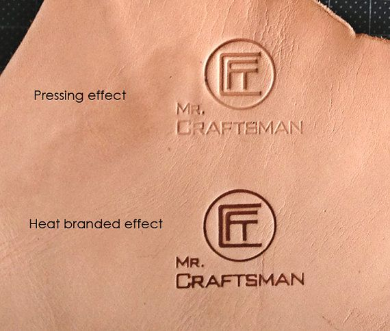 You Can Easily Emboss Your Initial Logo Or Graphic Design On Leather Crafts With Heat Embosser Hammering Handle Custom