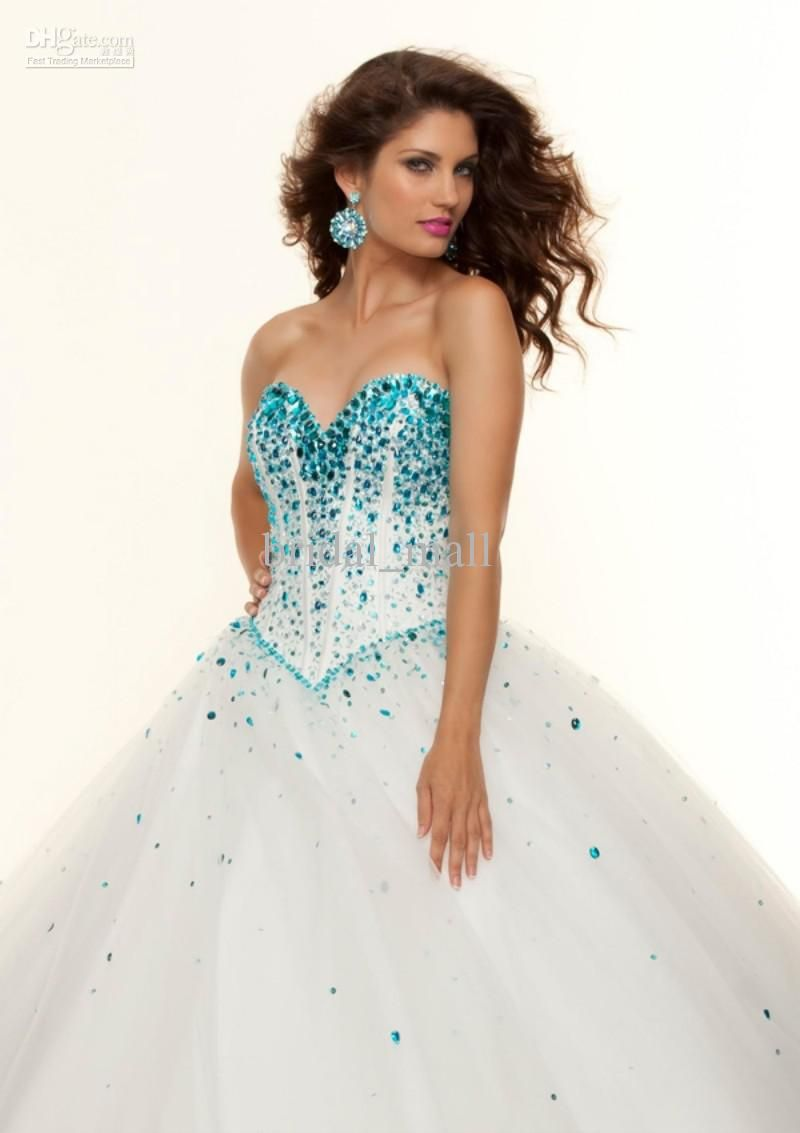 Big Puffy Prom Dresses | ... Puffy Ball Gown Sweep Train ...