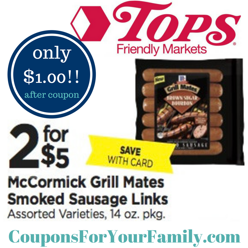 tops markets mccormick grill mates only 1 hurry and print coupon rh pinterest com