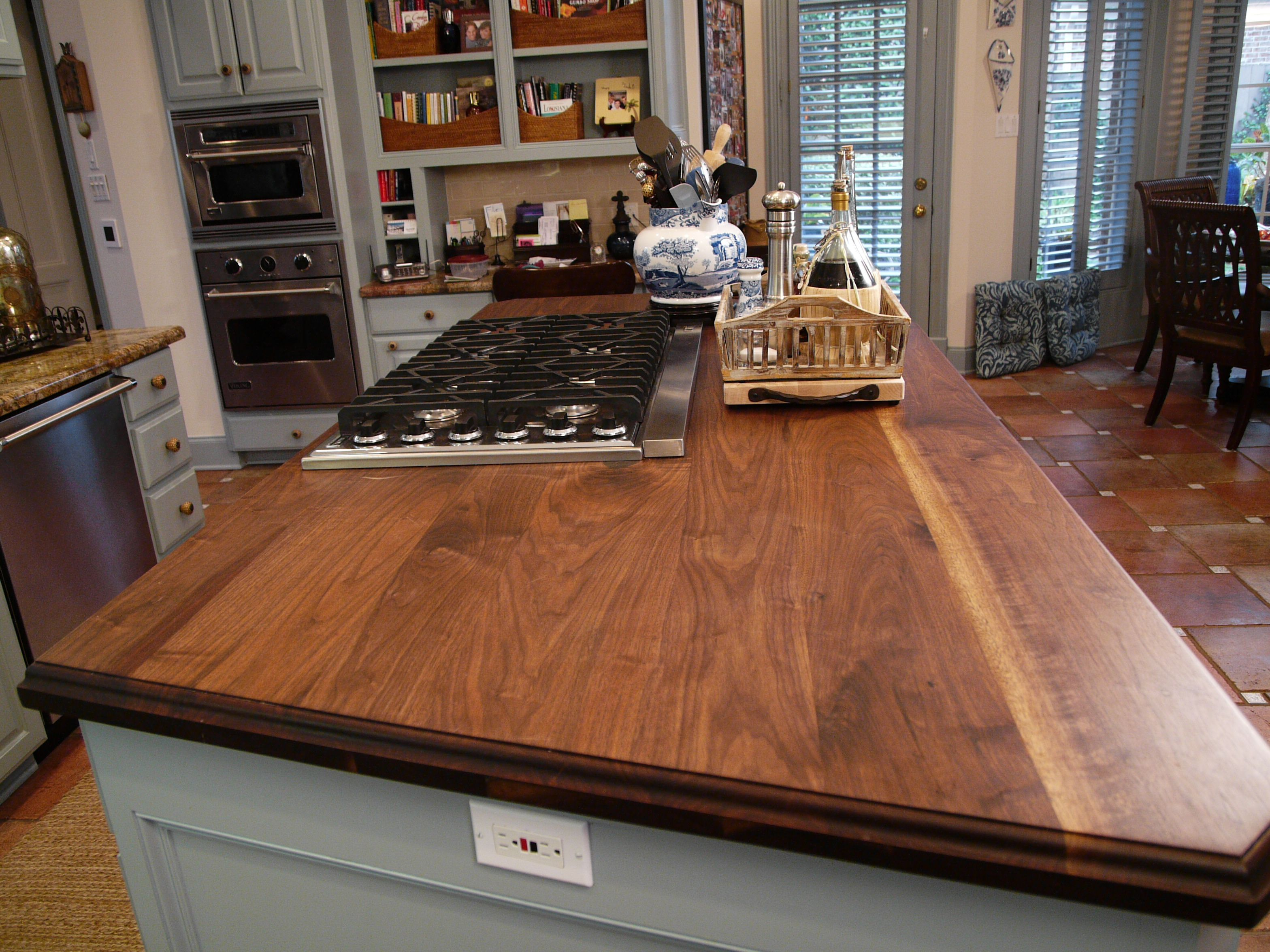 Butcherblock Solid Walnut Face Grain Wood Countertop, Made By Texas Treads  In Houston. 832