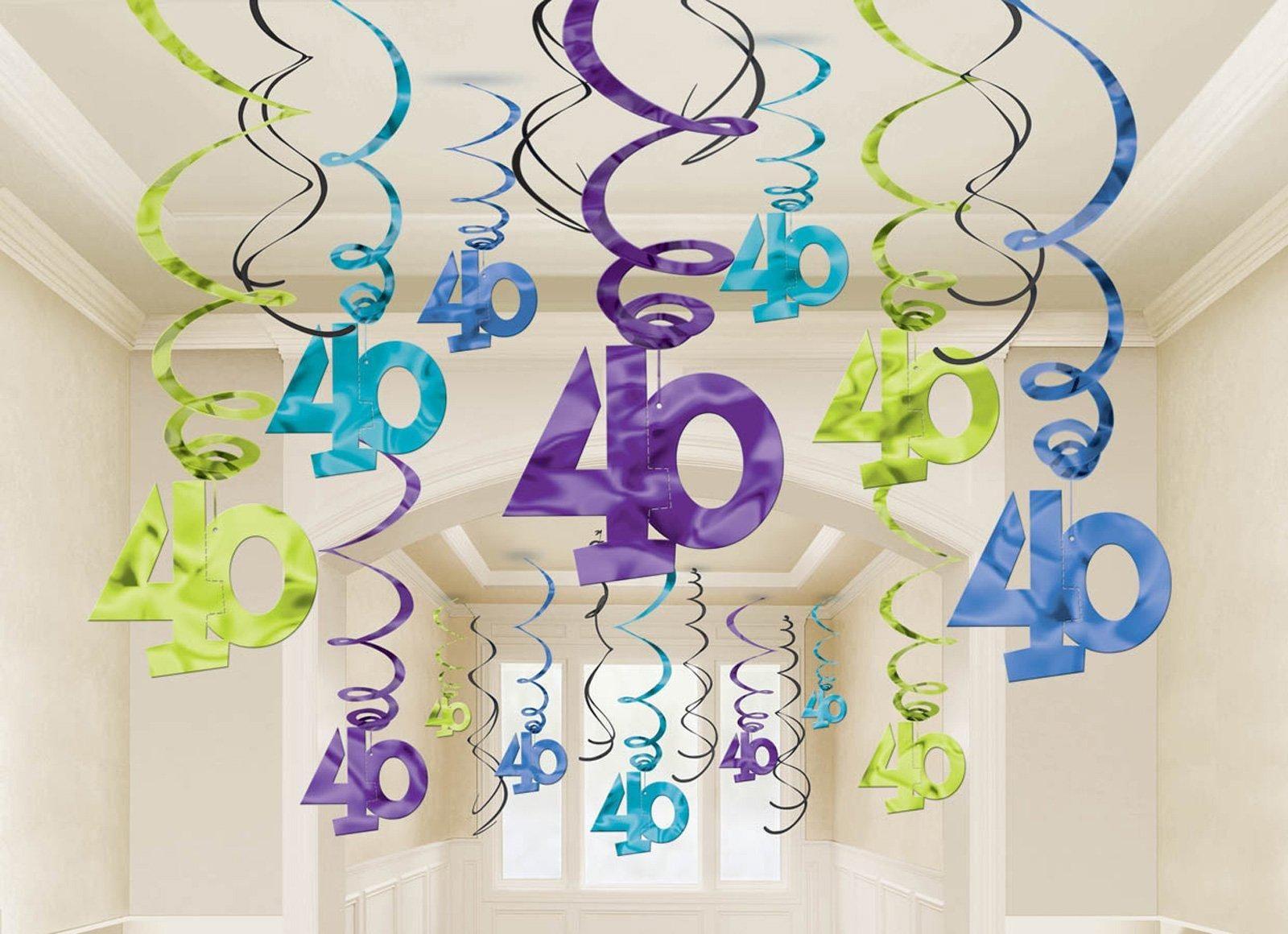 40th celebration hanging swirl decorations 30 60th