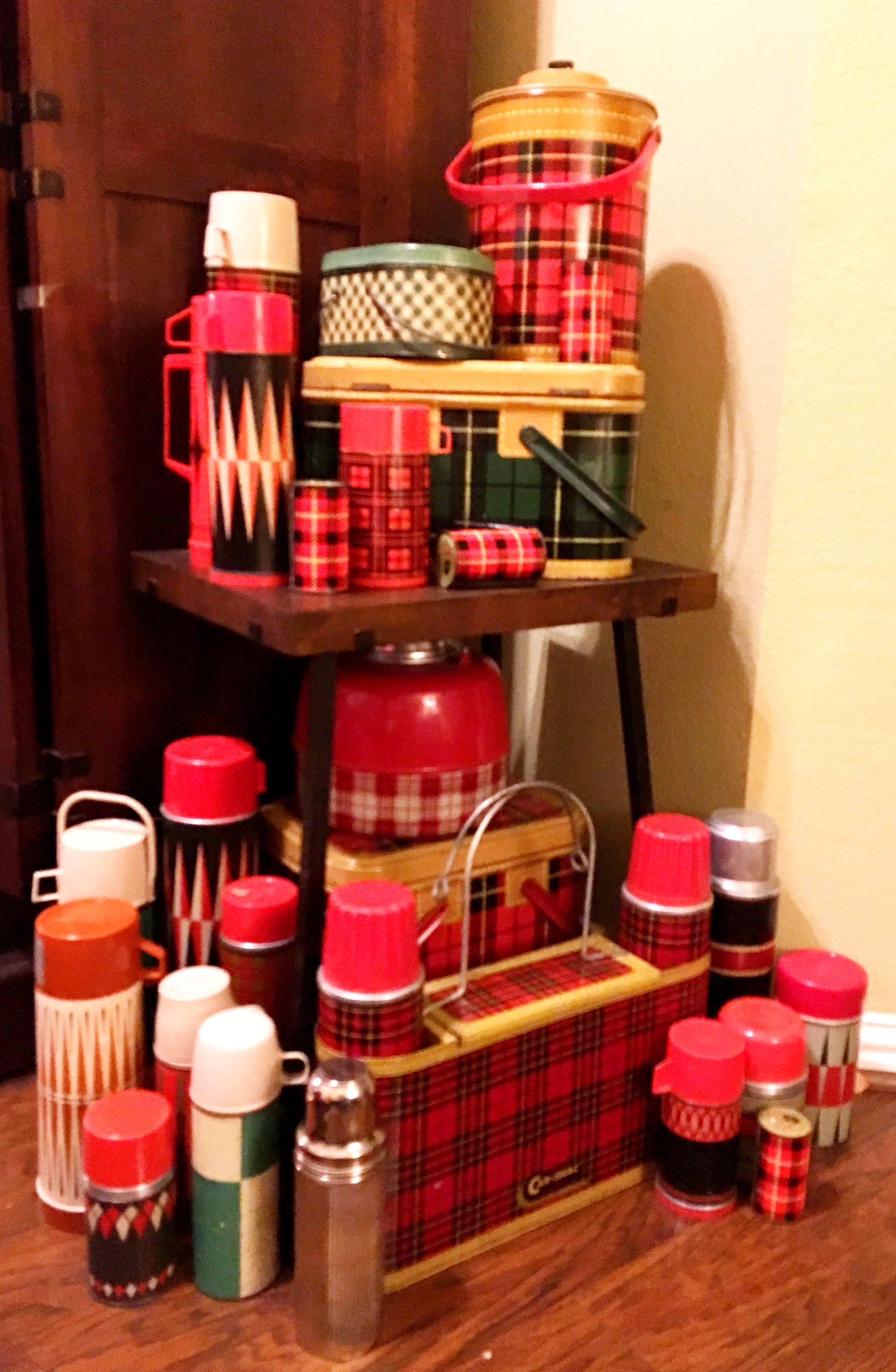 Mad for plaid and all things vintage - large thermos collection ...
