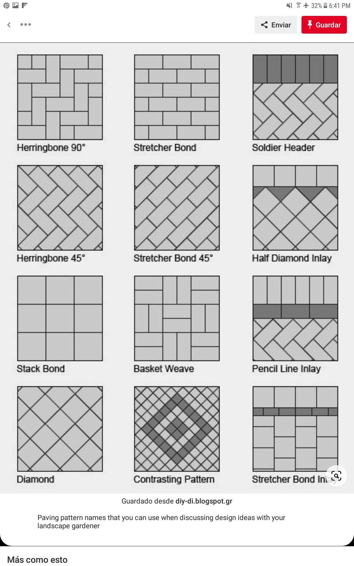 19 Tipos de adoquines para exterior