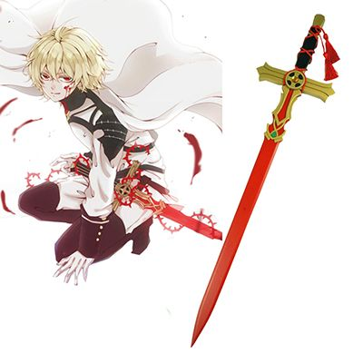 Seraph Of The End Mikaela Hyakuya Red White Wooden Sword Anime