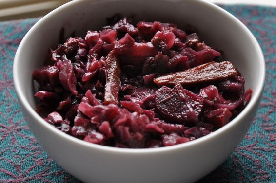 Red Wine Braise-Roasted Red Cabbage with Carrots and Beets, a recipe on Food52